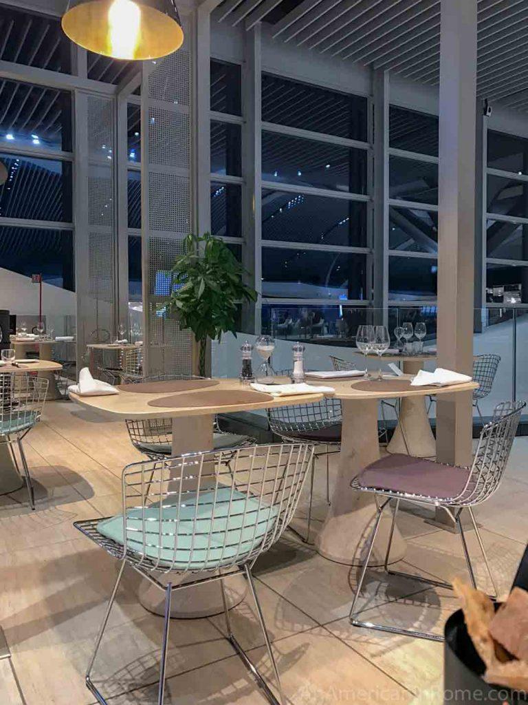 Rome airport restaurant