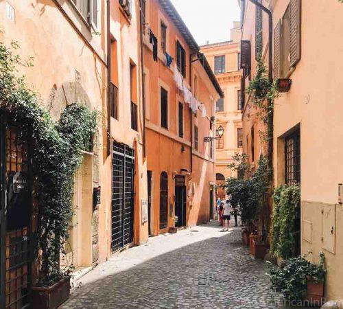 A pretty street in Rome's ex Jewish Ghetto