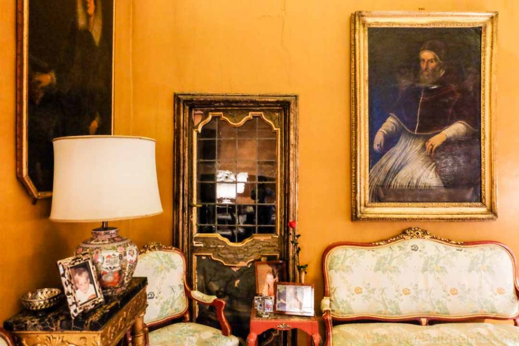 One of the living rooms in the Ludovisi palace known as Villa Aurora