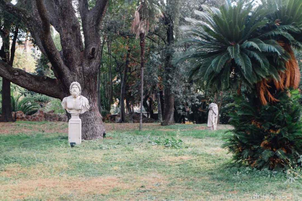 Villa Aurora gardens belong to the Ludovisi family in Rome