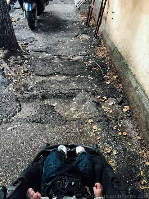 Rome sidewalks