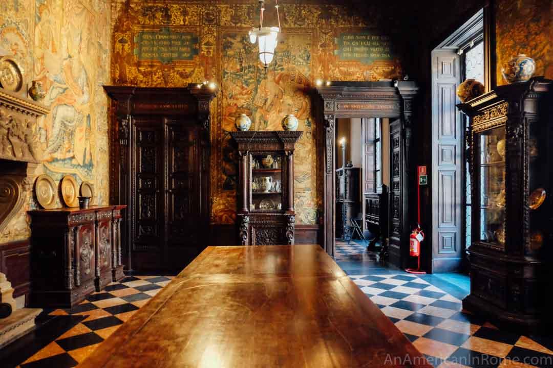 Room of curiosities at the Bagatti Valsecchi Museum in Milan