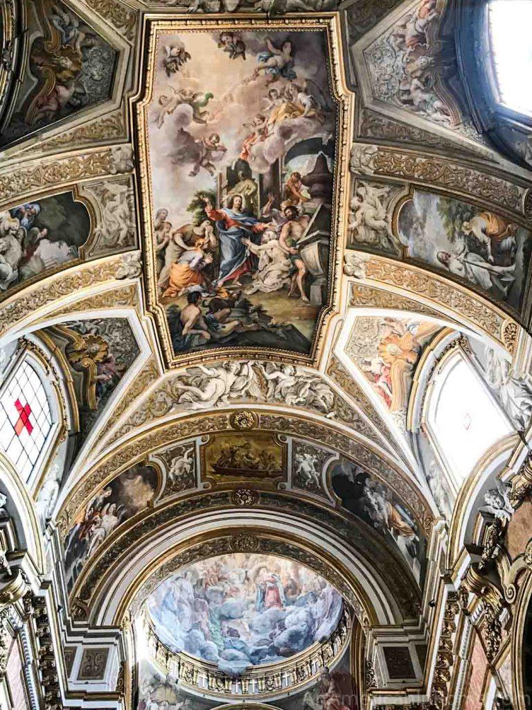 Ceiling by Sebastiano Conca in Santa Maria Maddalena