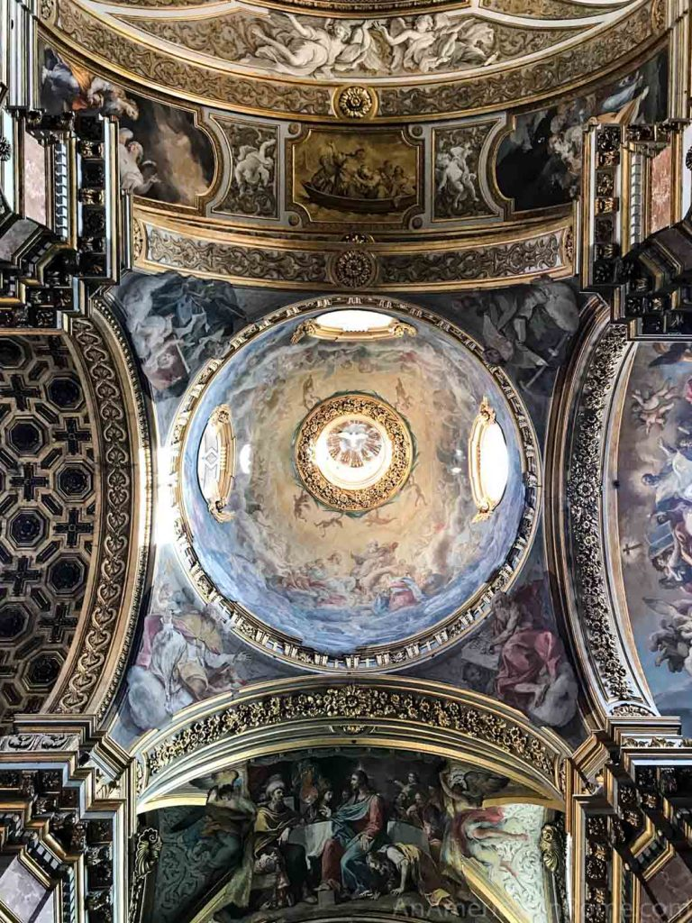 Church dome in Rome at Santa Maria Maddalena