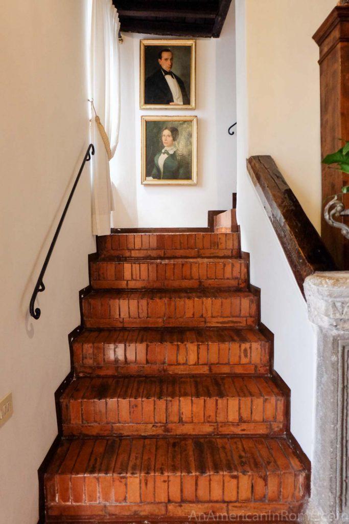 Italian staircase in a TreasureRome apartment