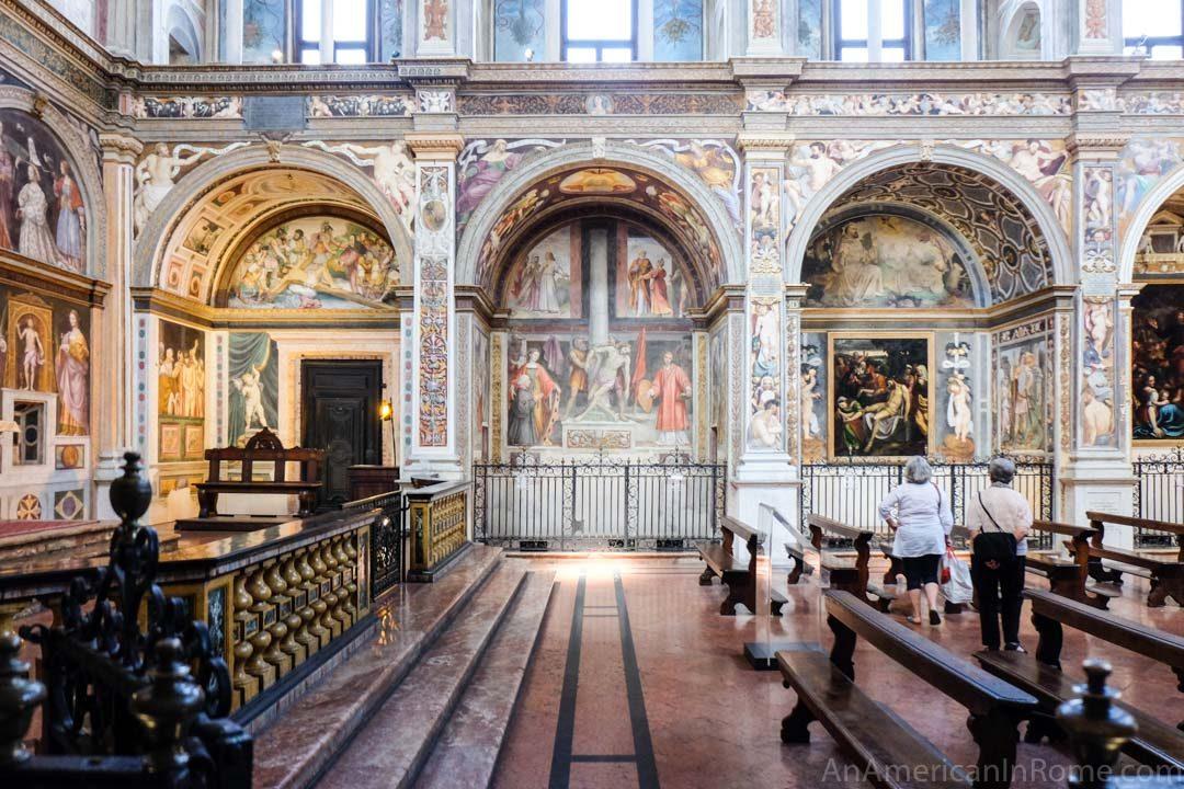 Milan's sistine chapel frescoed church
