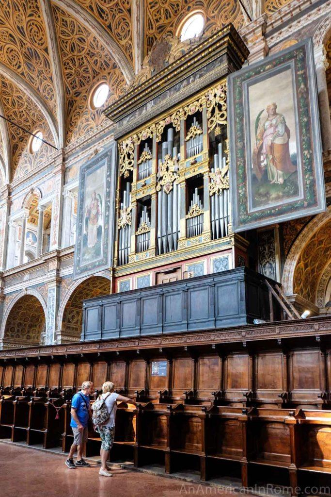 organ at San Maurizio al Monastero Maggiore church in Milan