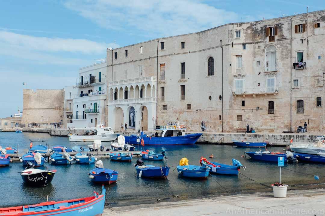 Old port in Monopoli Puglia