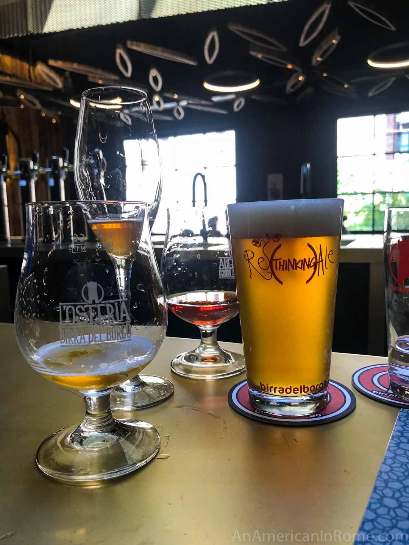 beer at osteria birra del borgo