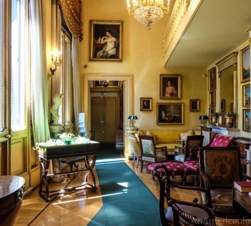 inside the home of mario praz in Rome