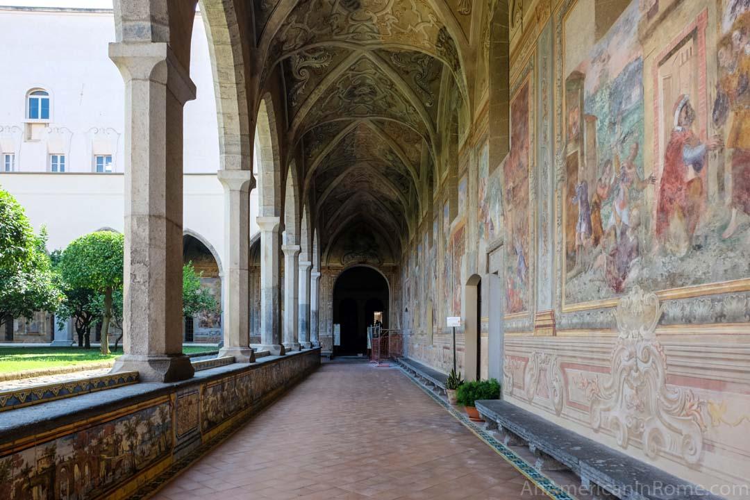 monastero santa chiara napoli painted halls
