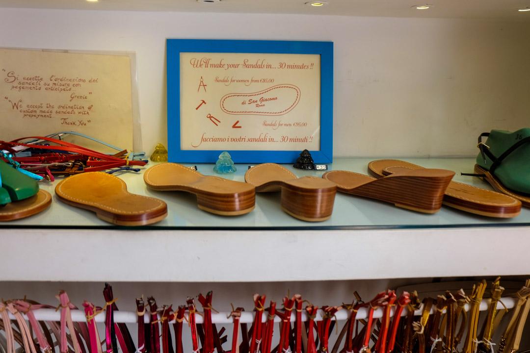 handmade sandals in Rome
