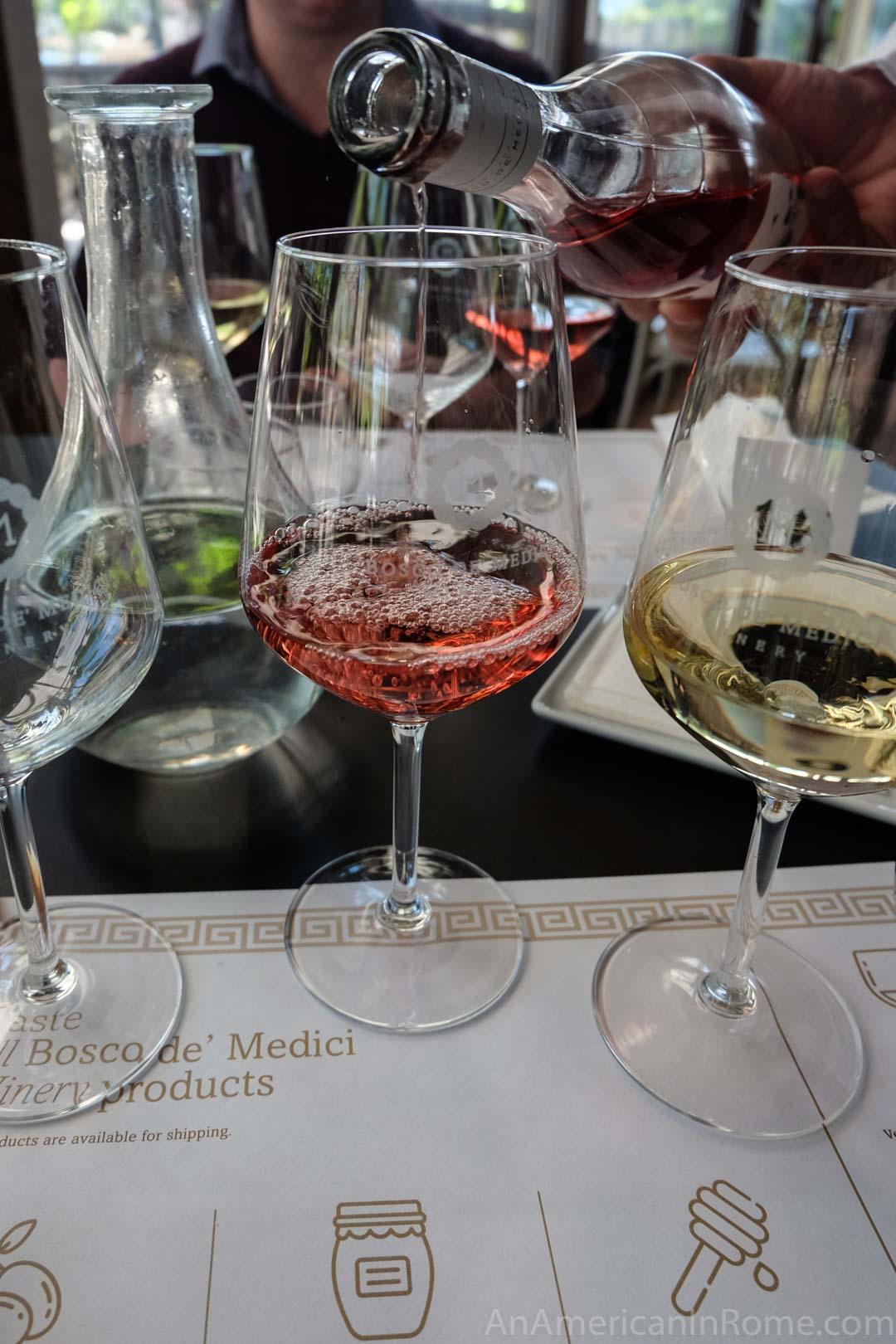 rose wine from vesuvius