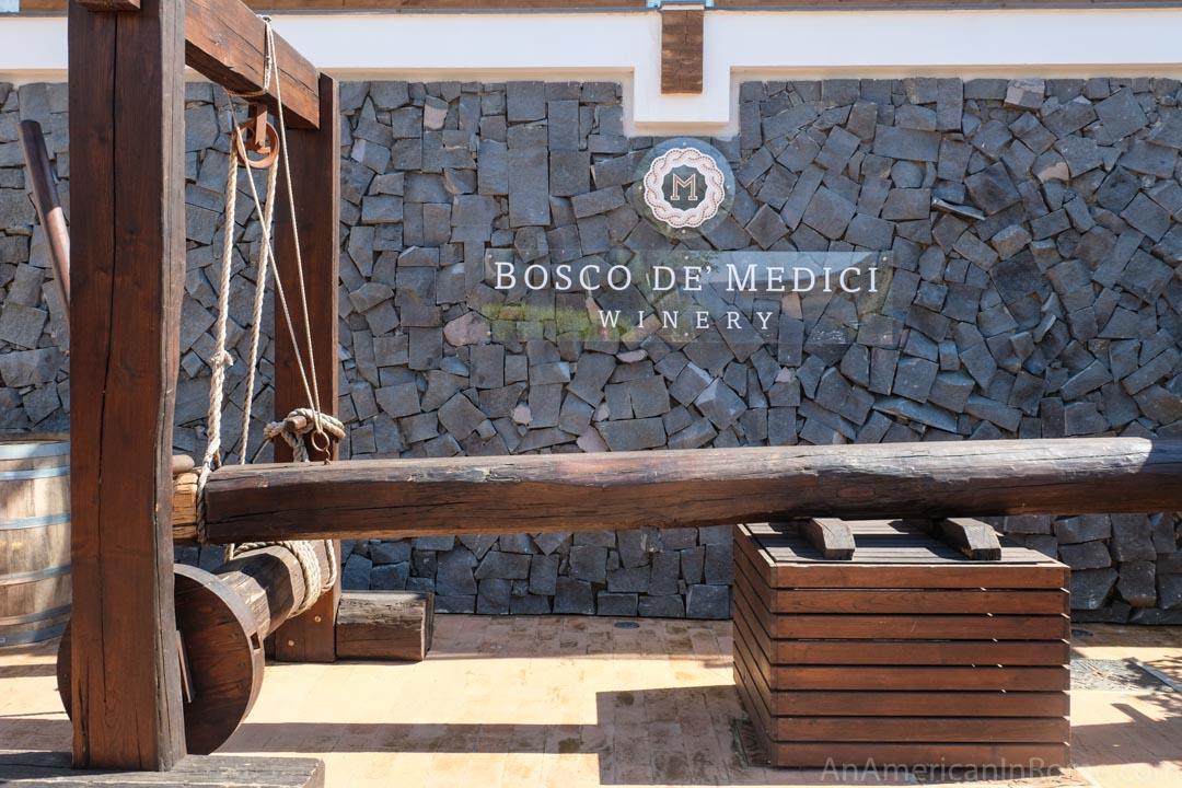 bosco de medici winery entrance