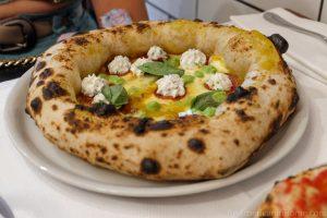 diavola pizza with ricotta at piccolo buco