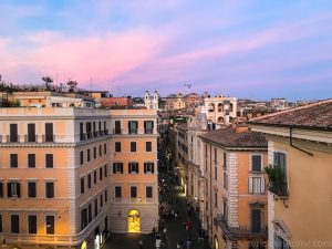 sunset in Rome from Zuma rooftop