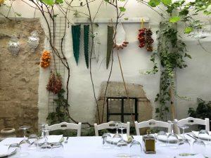 white table in Puglia