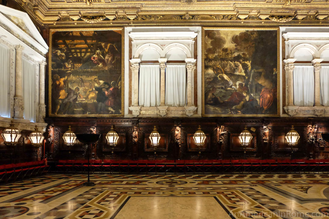 dark paintings by Tintoretto in Venice