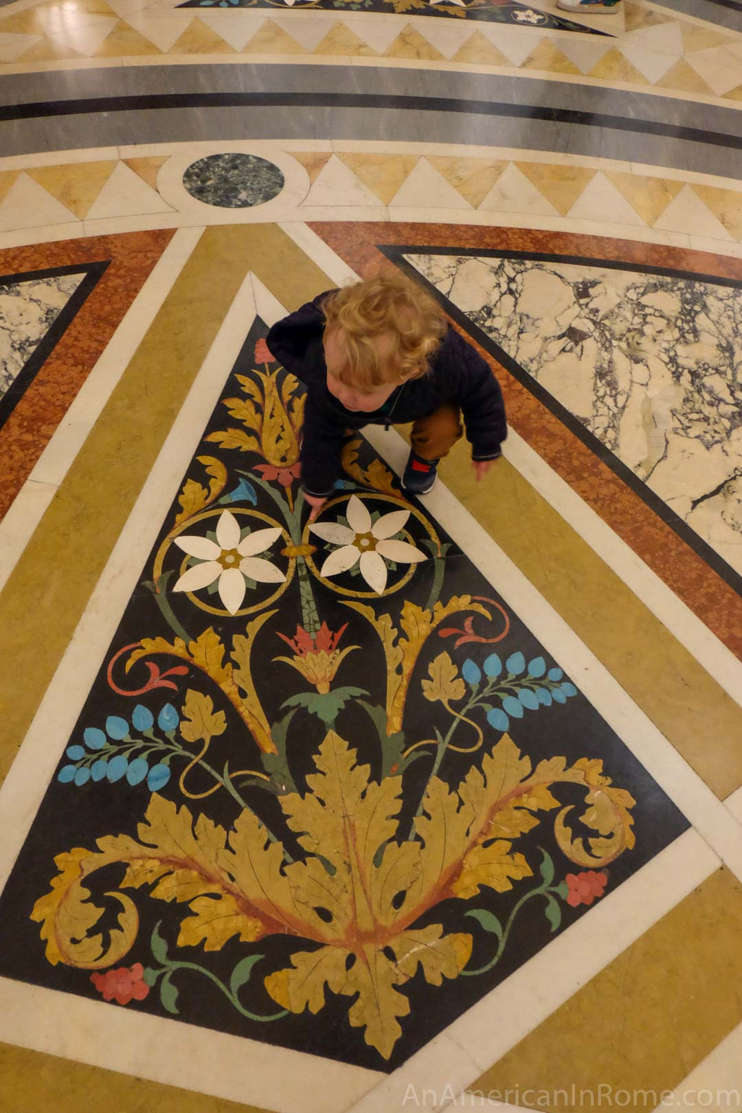 marble floors with flower design in venice