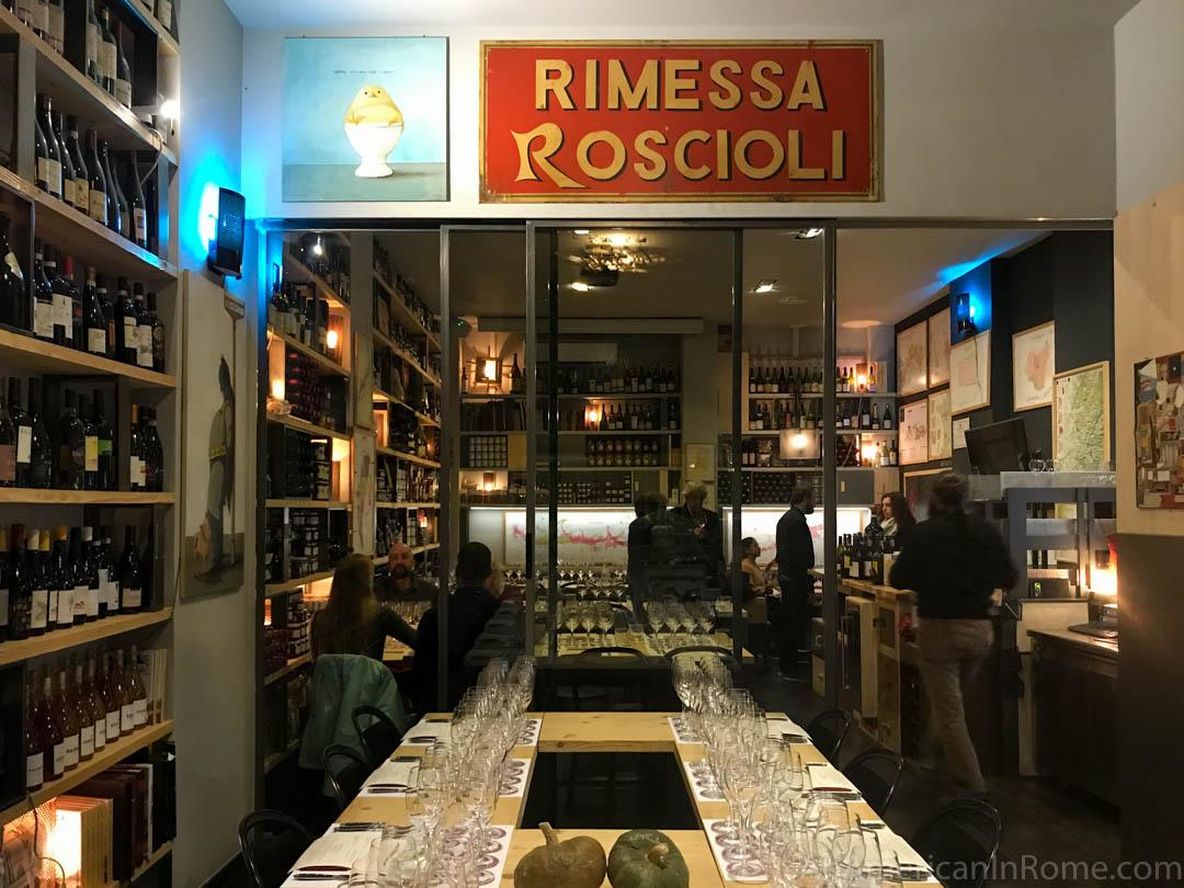 Inside Rimessa Roscioli wine tasting