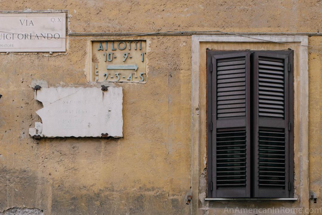 lotto sign in Garbatella Rome