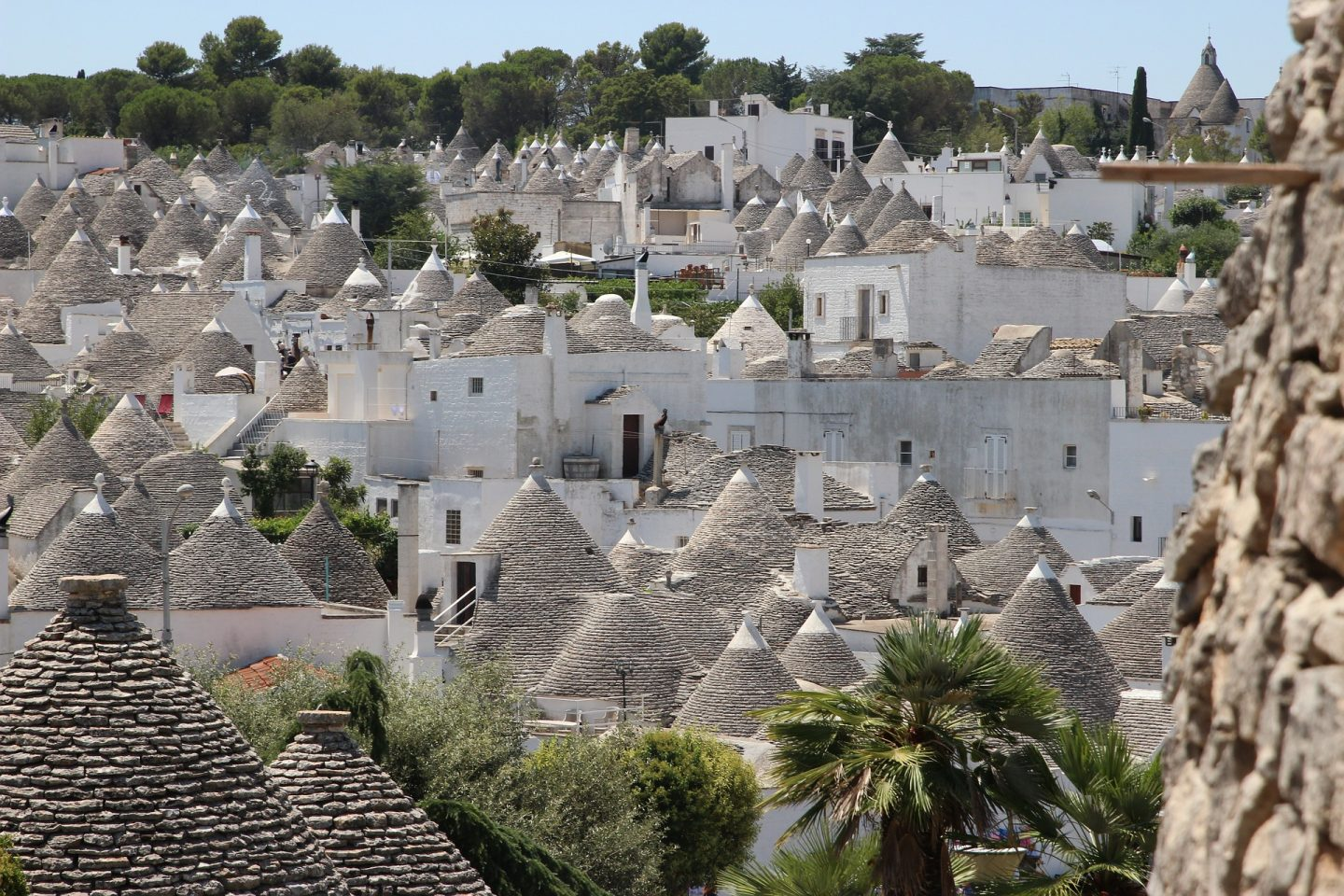 domed roofs of trulli in Puglia