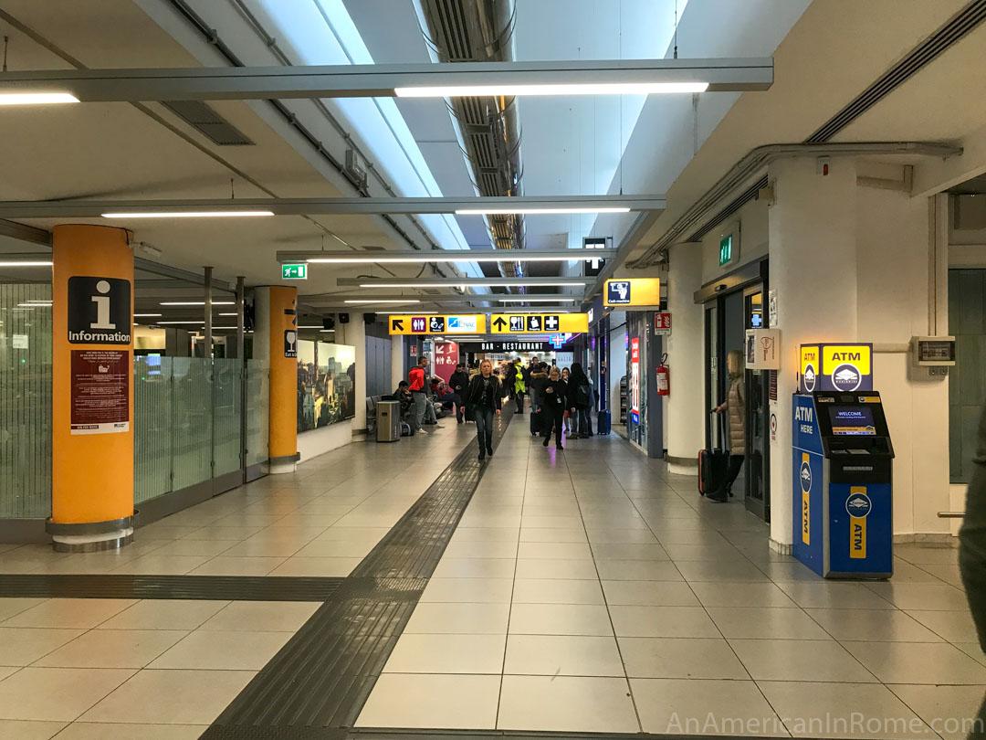 pre boarding area in Ciampino Airport