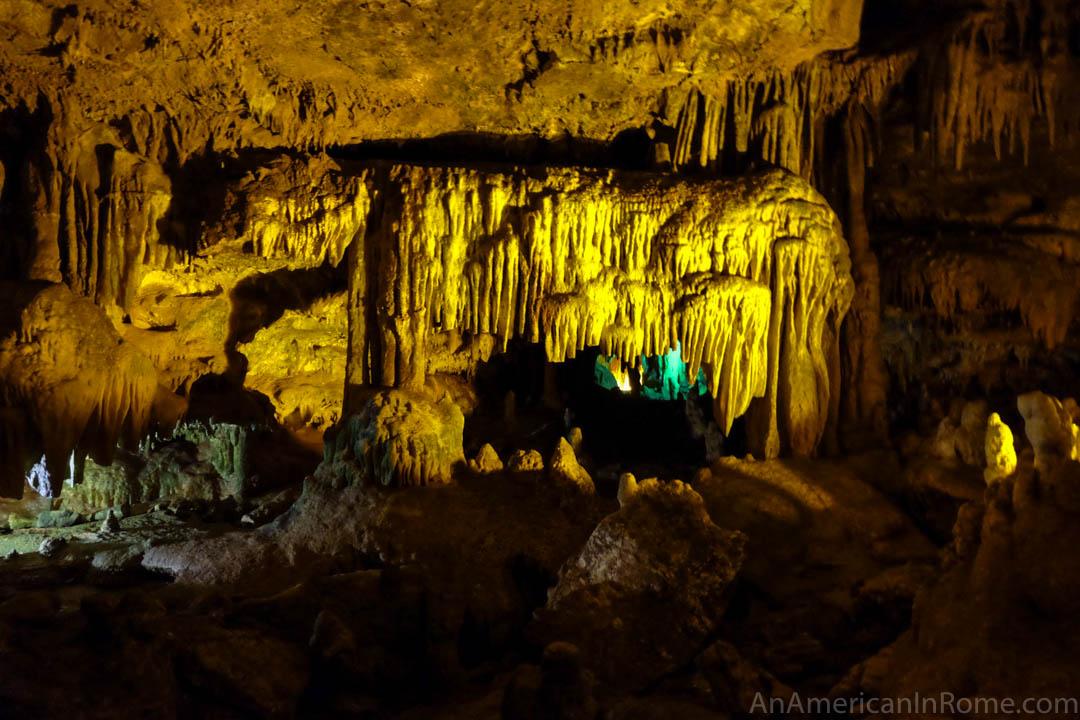 minerals inside caves in castellana