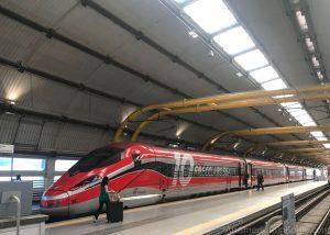 red frecciarossa train in Rome