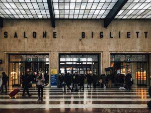 main waiting area in Firenze santa maria novella station