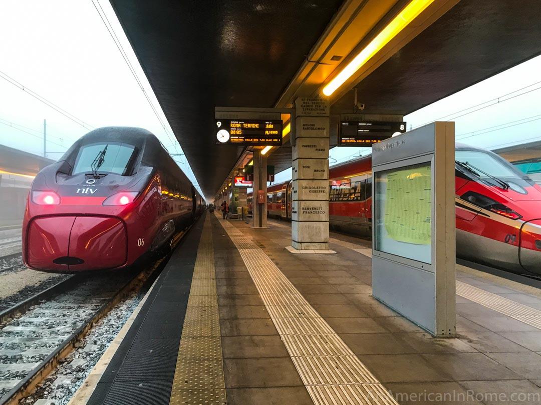 red rome to venice train in Santa Lucia station