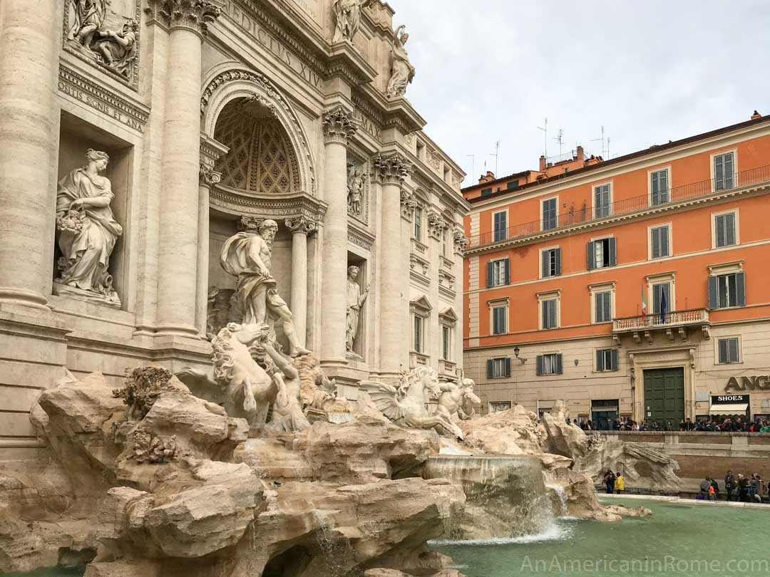 side view of Trevi Fountain