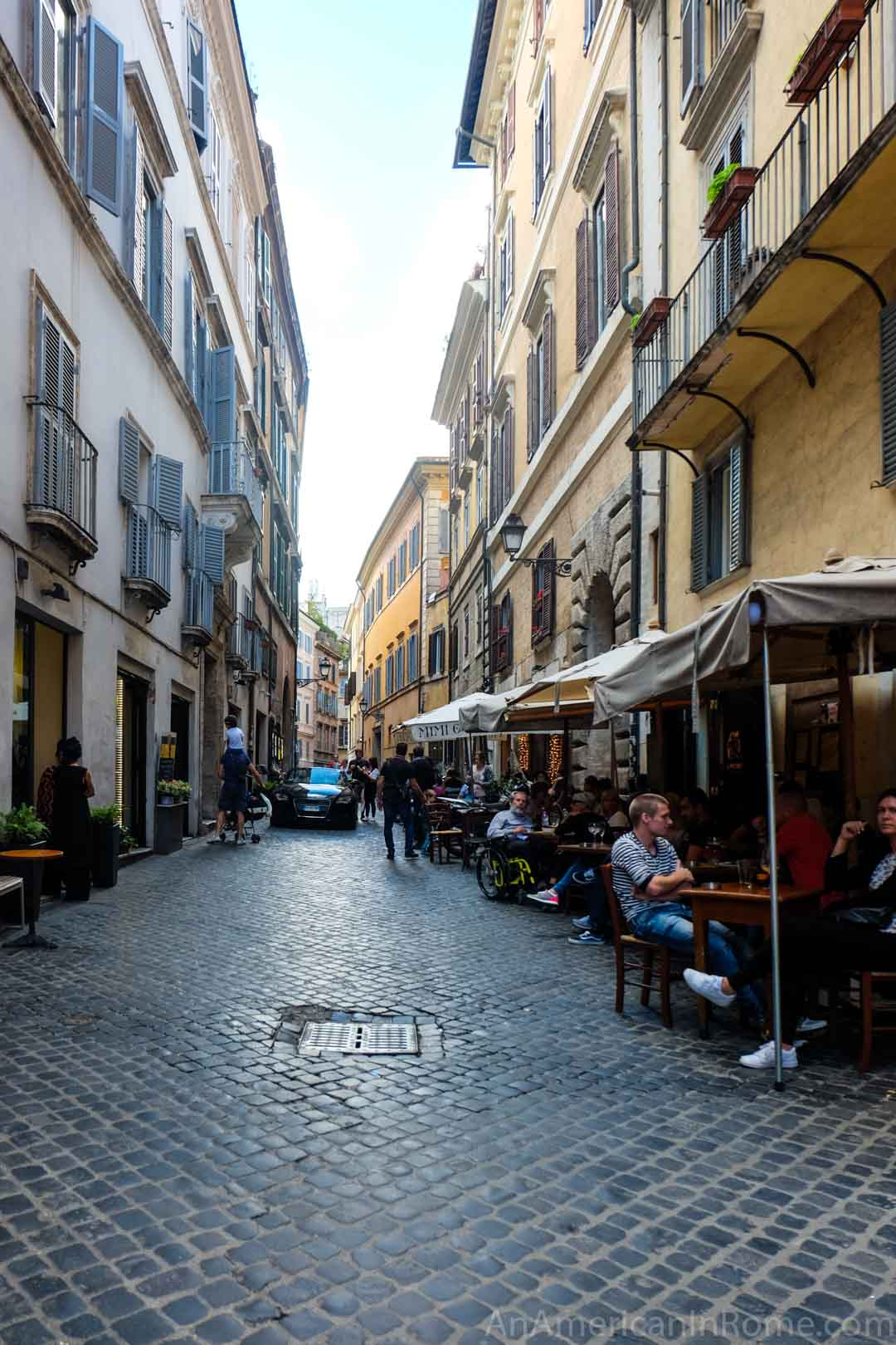 street scene on Via del Governo Vecchio Rome