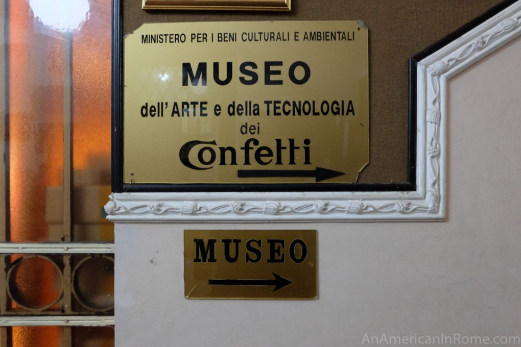 confetti museum sign