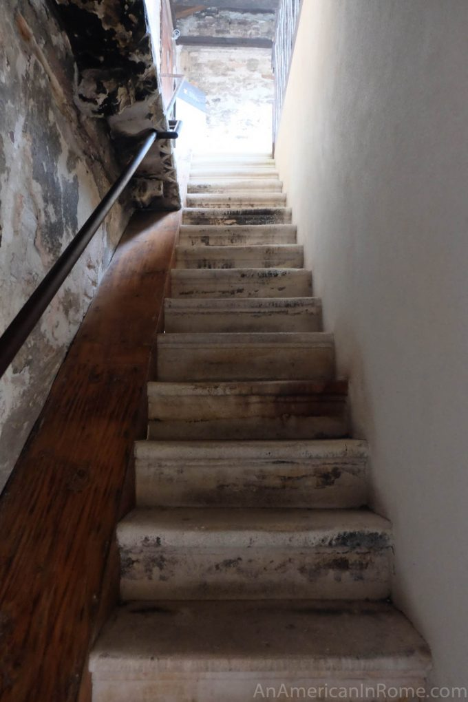 steep stairs at bovolo