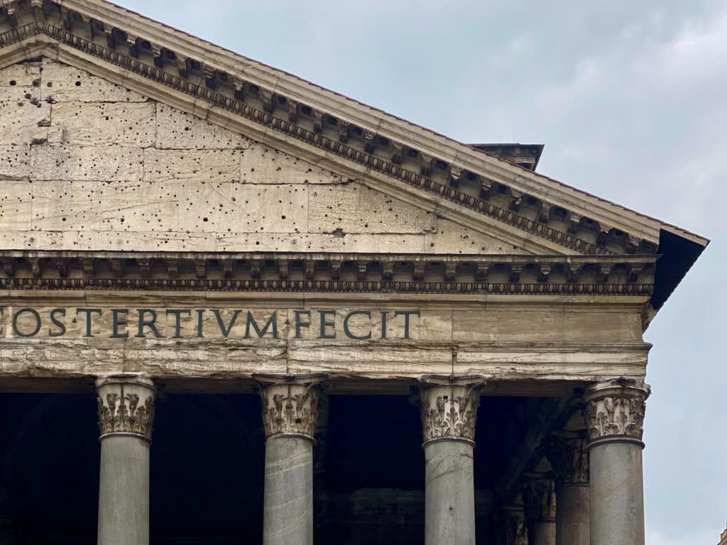 pantheon inscription