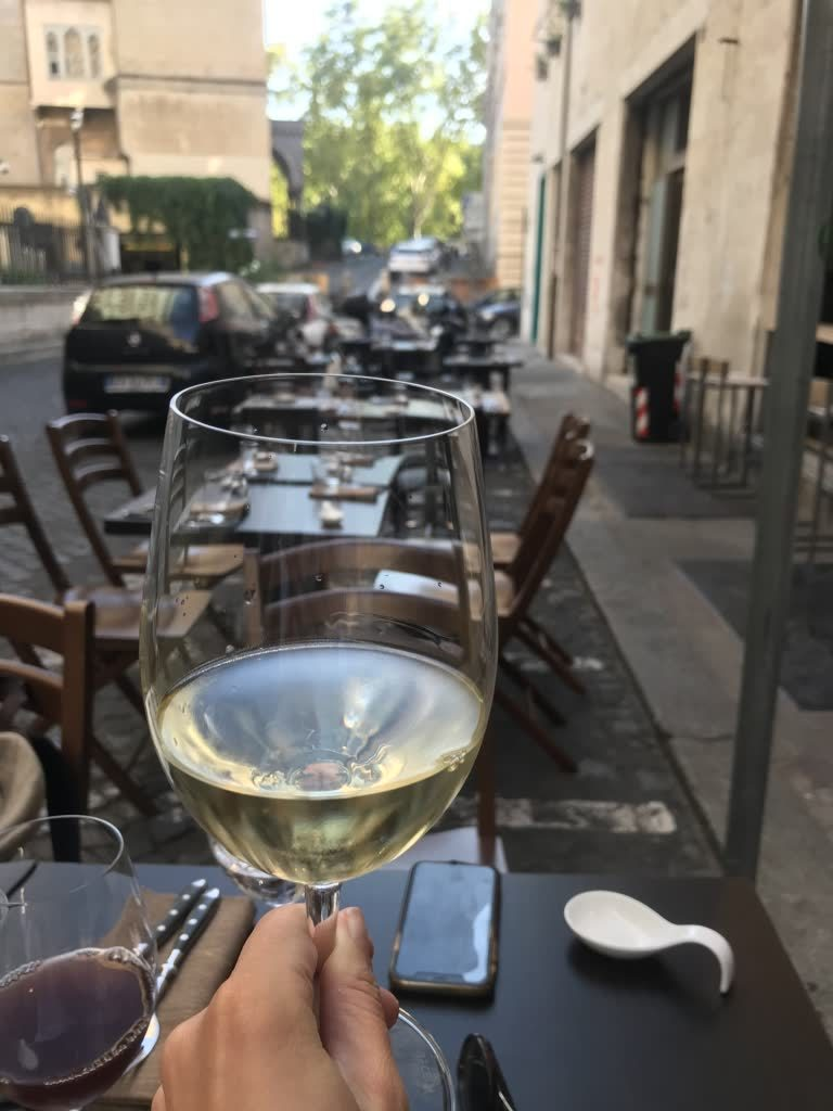 white wine glass and tables