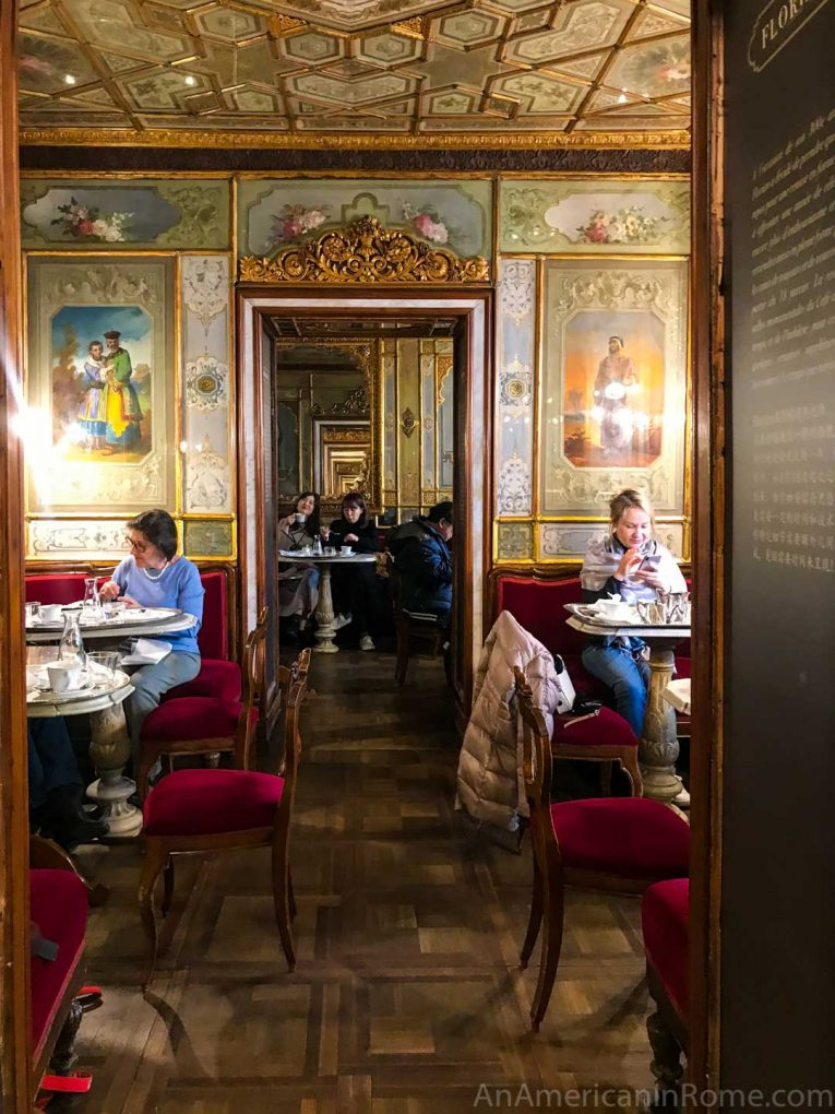 diners at Caffe Florian