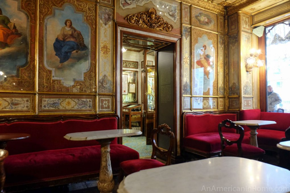 inside caffe florian