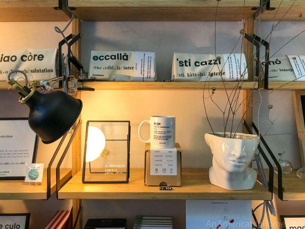 items on store shelf